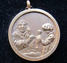"""NORMAN ROCKWELL """"THE DOCTOR AND THE DOLL"""" Original Gold Pendant EXTREMELY RARE!"""