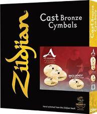 Zildjian *GRATISVERSAND* 5pc A Custom Becken Cymbal Set Pack + FREE 18 Crash