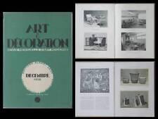 ART ET DECORATION -12 1928 - SALON D'AUTOMNE, ART DECO, RENE PROU, SOGNOT, LELEU