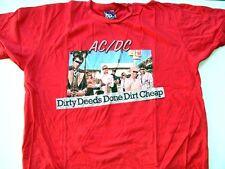 AC/DC Red Tee Shirt Dirty Deeds Done Dirt Cheap Size Medium NWT