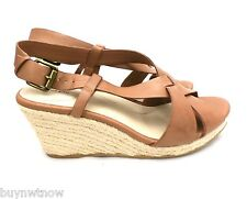 Women's Trista Mid Wedge Leather Slingback Espadrilles Sz 8.5 NEw in Box