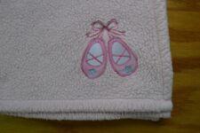Cutie Pie Light Pink Baby Blanket Ballet Dance Shoes Ballerina Lovey Security