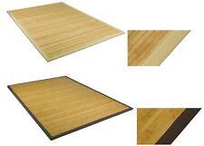 Bambus Teppich Läufer Vorleger Matte Wohnzimmer Küchen Bad Holz Natur ohne Fäden