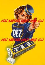 Pez Candy Dispenser A3 large size vintage 1940 poster advert sign leaflet