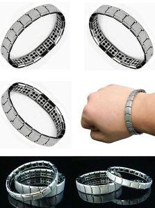 2021 Model: Germanium Stone Titanium Health/Relief Expandable Magnetic Bracelet