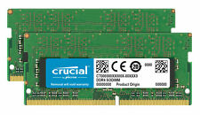Crucial 32GB DDR4 KIT 2x 16GB 2666 MHz PC4-21300 SODIMM 260-Pin Laptop Memory