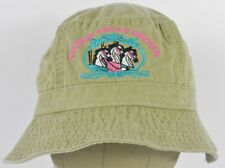 Beige Triple Treat Shows Fairs & Events Logo Bucket Boonie Hat Cap Fitted