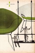 Stampa incorniciata-CHARLES EAMES CHAIR Pubblicità Poster (PICTURE Knoll Bertoia)