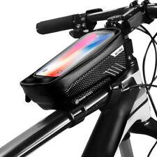 """WILDMAN велосипедная сумка горный велосипед передняя сумка сенсорный экран 6.2"""" телефон чехол водонепроницаемый"""