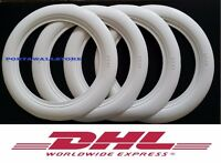 "15""X3"" WIDE WHITE WALL PORTAWALL TYRE TRIM SET 4PCS WHITEWALL VW BEETLE"