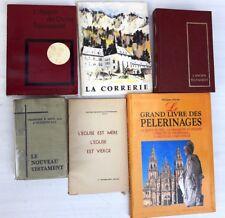 Lot de 6 livres religion catholique sauf missels 1941-1999
