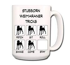 Weimaraner Stubborn Tricks Extra Large 15oz Coffee Mug