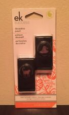 Htf Set Of 2 Ek Success Mini Craft Punches Witch Hat & Cat Halloween Cards