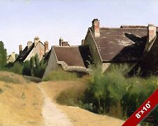 COTTAGE HOMES IN ORLEANS FRANCE SCENIC LANDSCAPE ART PAINTING REAL CANVAS PRINT