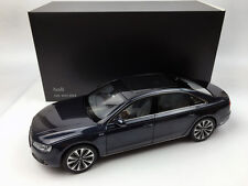 Kyosho 1:18 Audi A8L W12 2014 Phantom Moon Shine Blue Diecast metal model