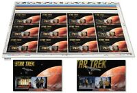 Star Trek 50th Anniversary Lenticular Uncut Press stamps Sheet