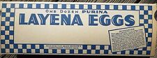 12 1950's Layena Egg Cartons