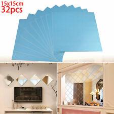 Cristal Espejo Azulejos Adhesivo Pared Cuadrado Auto Hogar/Decoración En Art GB