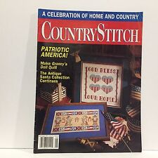Country Stitch Cross Stitch Magazine July/Aug 1991 Patriotic America Free Ship