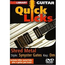 Lick Library learn Shred Metal in the style of Synyster Gates DVD RDR0401