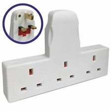 3 WAY GANG SOCKET EXTENSION MULTI PLUG IN MAINS SOCKET 13A AMPS - NEW