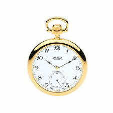 Open Face Gold Plated Pocket Watches with Chain