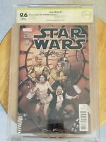 Star Wars (2015) # 1 Variant, (CBCS 9.6), White Pages, SS Bob McCleod