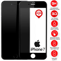 2 X 9H Tempered Glass Film Screen Protector For Apple iPhone 7 iPhone 8 Black