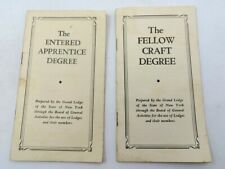 Vintage Lot of 1949-1950 Masonic Entered Apprentice Degree & Fellow Craft Degree