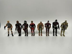 2003 Vintage action figures gi joe mixed lot (8) W/ Clam Shell Protectors
