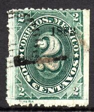 Mexico 1882 Foreign Mail Small Numeral 2¢ Green Satillo MX111