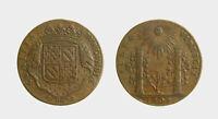 s835_38) MEDAL Jeton  France  Comitia Burgundiae FULTA VIRESCIT 1704