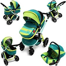 iSafe Baby Stroller Pram 3 in 1 - LiL Friend Design (Complete With Car Seat )