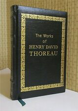 WORKS OF HENRY DAVID THOREAU, Leather, WALDEN, CAPE COD, MORE!!!
