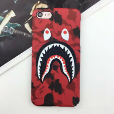 New Camo Bape Camouflage Shark Design Hard Case Cover For iPhone 6 6s #Red