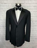Giorgio Armani Collezioni Mens Black Wool Classic Tuxedo Jacket Tux 44L