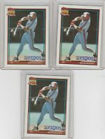 1991 Topps Glow Card Back UV Variant Tim Raines #360 Lot of 3