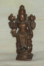 "Traditional Indian Ritual Bronze Statue Of God ""Vishnu"" #1"