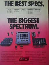 9/1992 KORRY SWITCHES INDICATORS KEYBOARDS PANELS NVIS MIL-SPEC ORIGINAL AD