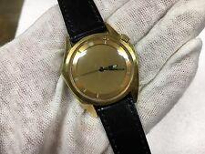 Vintage Zodiac Olympos Gold Tone Mystery Dial Automatic 17J Watch