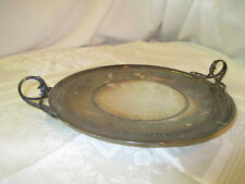Antique Meriden Silver Plate reticulated Tray ornate winged handles #758/S