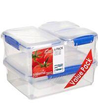 Sistema Klip It Contenitore per alimenti Storage mantenere freschi Lavastoviglie Frigo Microonde