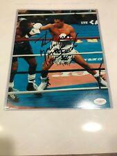 "Sugar Ray Leonard VS Hector ""Macho"" Camacho Autographed 8x10 Photo JSA"