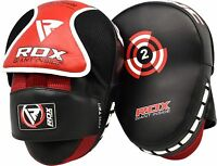RDX Boxing Focus Pads Hook & Jab Mitts MMA Punch Bag Curved Kick Thai pads T2R