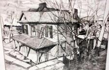 "Frank Stack Signed ""House Next Door"" Etching (Robert Crumb contemporary)"