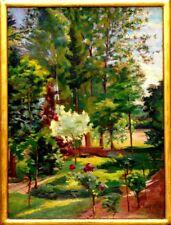 André Fidrit tableau original 1918 La roseraie près Chevreuse