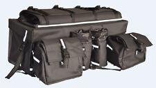 Greybull Gear ATV Rear Cargo Bag 600D black vinyl - rifle sleeve, side bags