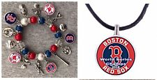 World Series Boston Red Sox Necklace And Bracelet Set