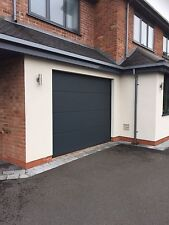 Electric Sectional Ribbed Garage Door INSTALLED Supplied And Fitted Insulated