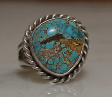 Indian Mountain or Nevada Blue Turquoise Ring~Sterling Split Shank~Size 4.25 A +